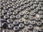 Czech Pressed Glass Disc Bead 6mm, Hematite (Pkg of 600 Pieces)