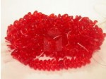Czech Pressed Glass Angel Wing Bead 10mm, Ruby Red, (Pkg of 300 Pieces)
