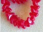 Czech Pressed Glass Angel Wing Bead 14mm, Ruby Red, (Pkg of 300 Pieces)