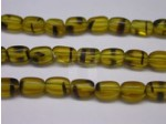 Czech Pressed Glass Rice Bead 6x4mm, Brown Tortoise (Pkg of 300 Pieces)