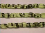 Czech Pressed Glass Rice Bead 6x4mm, Green Tortoise (Pkg of 300 Pieces)