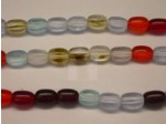 Czech Pressed Glass Rice Bead 6x4mm, Mix (Pkg of 300 Pieces)