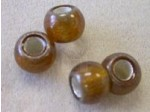 Czech Glass 12mm Roller Bead, 5mm Hole, Topaz Silver Lined Center (Pkg of 150 Pieces)