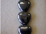 Czech Pressed Glass Heart Bead 16x15mm, Hematite (Pkg of 300 Pieces)