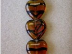 Czech Pressed Glass Heart Bead 16x15mm, Tortoise (Pkg of 300 Pieces)