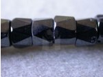 Czech Glass Fire Polished Faceted Pony Bead 6mm, Hematite (Pkg of 300 Pieces)