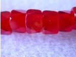 Czech Glass Fire Polished Faceted Pony Bead 6mm, Ruby Red (Pkg of 300 Pieces)