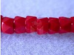 Czech Glass Fire Polished Faceted Pony Bead 6mm, Red Opaque (Pkg of 300 Pieces)