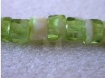 Czech Glass Fire Polished Faceted Pony Bead 6mm, Olive Opaque Carmel (Pkg of 300 Pieces)