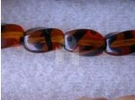 Czech Pressed Glass Twist Bead 9x7mm, Tortoise