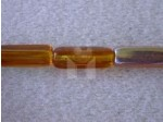 Czech Pressed Glass Squared Rectangle Bead 15x5mm, Topaz AB (Pkg of 300 Pieces)