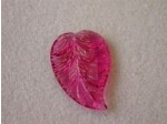 Czech Pressed Glass Leaf Bead 26x18mm, 12 Pieces Cranberry