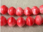 Czech Pressed Glass Baroque Bead 8mm, Coral (Pkg of 300 Pieces)