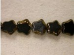 Czech Glass Table Cut Star Beads 8mm, Jet Bronze (Pkg of 300 Pieces)