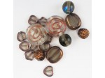 Czech Pressed Glass Bead Mix, Copper,  Approx 17 Beads