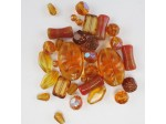 Czech Pressed Glass Bead Mix, Sunset, Approx 27 Beads