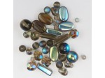 Czech Pressed Glass Bead Mix, Black Diamond, Approx 39 Beads