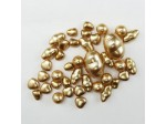 Czech Glass Pearl Bead Mix, Gold, Approx 28 Beads