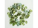 Czech Pressed Glass Bead Mix, Mirror Mint, Approx 38 Beads