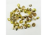 Czech Pressed Glass Bead Mix, Golden Glow, Approx 34 Beads