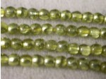 Czech Pressed Glass Smooth Round Druk Bead 3mm, Mirrored Jonquil, (Pkg of 600 Pieces)