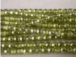 Czech Pressed Glass Smooth Round Druk Bead 3mm, Goldfish AB, (Pkg of 600 Pieces)