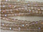 Czech Pressed Glass Smooth Round Druk Bead 3mm, Smoked Topaz AB, (Pkg of 600 Pieces)