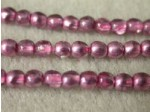 Czech Pressed Glass Smooth Round Druk Bead 3mm, Mirror Rose Quartz, (Pkg of 600 Pieces)