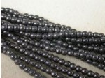 Czech Pressed Glass Smooth Round Druk Bead 3mm, Hematite, (Pkg of 600 Pieces)