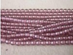 Czech Pressed Glass Smooth Round Druk Bead 3mm, Amethyst Luster, (Pkg of 600 Pieces)