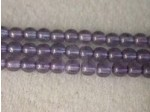 Czech Pressed Glass Smooth Round Druk Bead 4mm, Lumi Lilac, (Pkg of 600 Pieces)