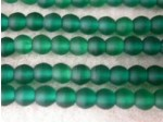 Czech Pressed Glass Smooth Round Druk Bead 4mm, Zircone Green Matte, (Pkg of 600 Pieces)
