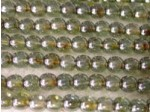 Czech Pressed Glass Smooth Round Druk Bead 4mm, Lumi Green, (Pkg of 600 Pieces)