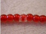 Czech Pressed Glass Smooth Round Druk Bead 4mm, Cranberry Pink, (Pkg of 600 Pieces)