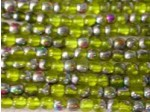 Czech Pressed Glass Smooth Round Druk Bead 4mm, Yellow Vitreal, (Pkg of 600 Pieces)