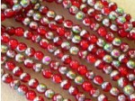 Czech Pressed Glass Smooth Round Druk Bead 4mm, Ruby Vitreal Matte, (Pkg of 600 Pieces)