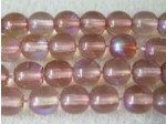 Czech Pressed Glass Smooth Round Druk Bead 6mm, Sprayed Light Smoked Topaz AB Coated (Pkg of 300 Pieces)