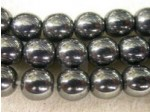 Czech Pressed Glass Smooth Round Druk Bead 6mm, Hematite (Pkg of 300 Pieces)