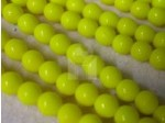 Czech Pressed Glass Smooth Round Druk Bead 6mm, Yellow Opaque (Pkg of 300 Pieces)