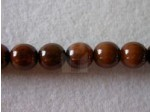 Czech Pressed Glass Smooth Round Druk Bead 8mm, Brown Marble (Pkg of 300 Pieces)