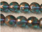 Czech Glass Smooth Round Druk Bead Spotted 10mm, Aqua (Pkg of 300 Pieces)