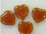 Czech Pressed Glass Heart Bead 15mm, Topaz (Pkg of 300 Pieces)