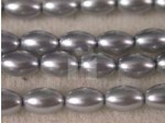 Czech Glass Oval Pearl Bead 8x5mm, Silver (Pkg of 300 Pieces)