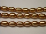 Czech Glass Oval Pearl Bead 9x6mm, Bronze (Pkg of 300 Pieces)