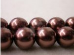 Czech Glass Smooth Round Pearl Bead 10mm, Bronze (Pkg of 300 Pieces)