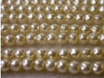 Czech Glass Baroque Pearl Bead 4mm, Cream (Pkg of 600 Pieces)
