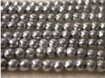 Czech Glass Baroque Pearl Bead 4mm, Silver (Pkg of 600 Pieces)