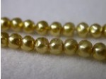 Czech Glass Baroque Pearl Bead 4mm, Gold (Pkg of 600 Pieces)