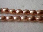 Czech Glass Pellet Pearl Bead 6x4.5mm, Cinnamon (Pkg of 300 Pieces)
