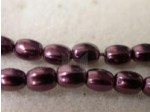 Czech Glass Pellet Pearl Bead 6x4.5mm, Eggplant (Pkg of 300 Pieces)